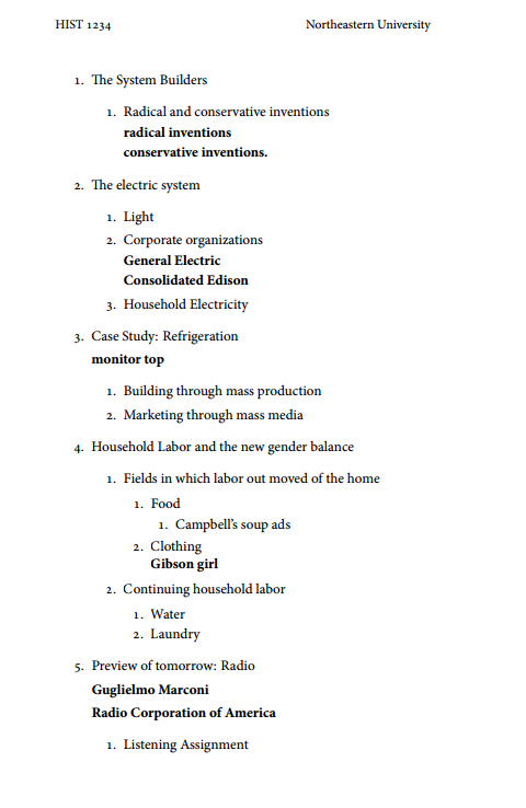 Image Gallery Lecture Outline